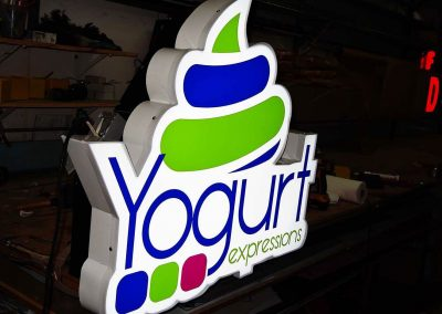Illuminated Sign Yogurt Expressions