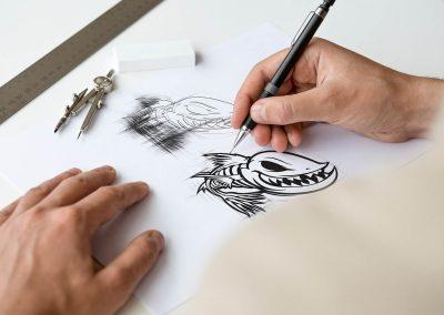 Ogden Logo Branding Sketch