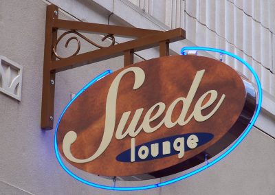 Illuminated Signs Suede Lounge