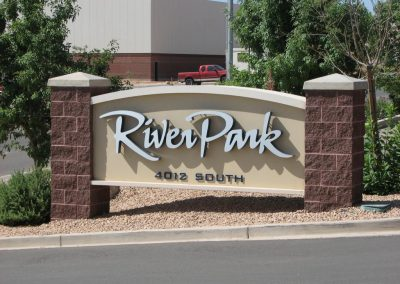 River Rock - Monument Sign