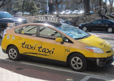 Taxi Taxi Vehicle Wrap