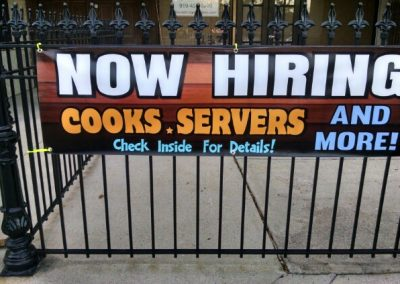 Now Hiring Cooks and Servers